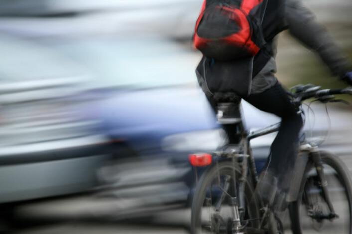 Uhellsrisikoen for syklister øker dramatisk i kryss med dårlig sikt, viser svensk forskning. Illustrasjonsfoto: (Foto: iStockPhoto)