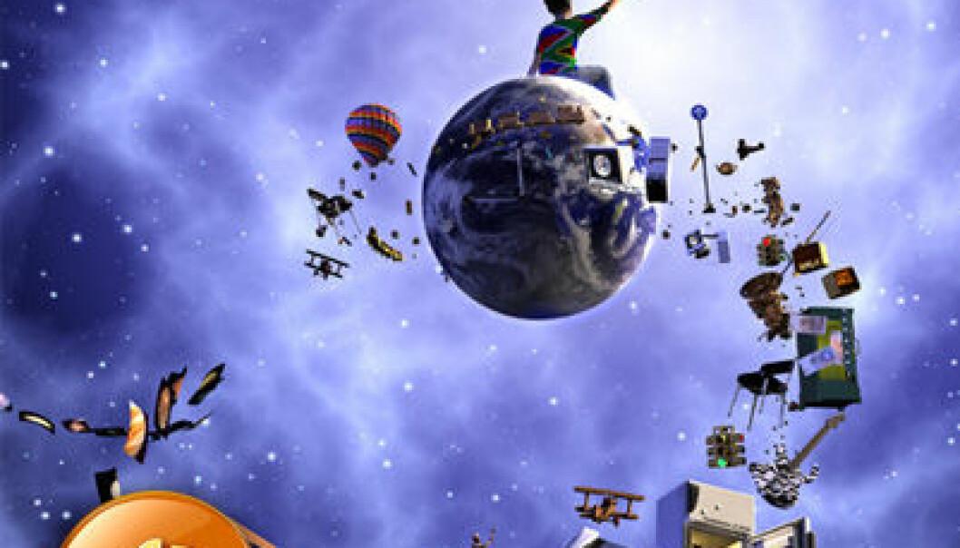 Dette bildet ble rendret av astronaut Mark Shuttleworth i bane rundt jorden om bord på den internasjonale romstasjonen. (Illustrasjon: Gilles Tran & Jaime Vives Piqueres)