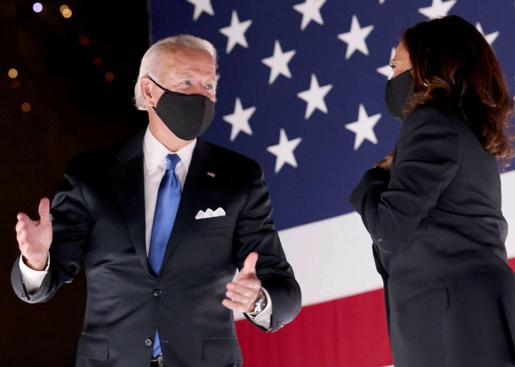 En optimstisk Joe Biden da han og Kamala Harris ble nominert som Det demokratiske partiets presidentkandidater 20. august i fjor.