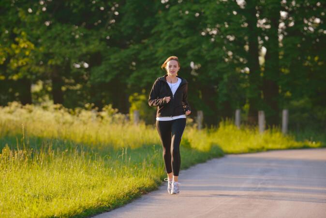 For utholdenhetstreninga kan du selv velge om du vil gå, jogge, gå på ski eller sykle.
