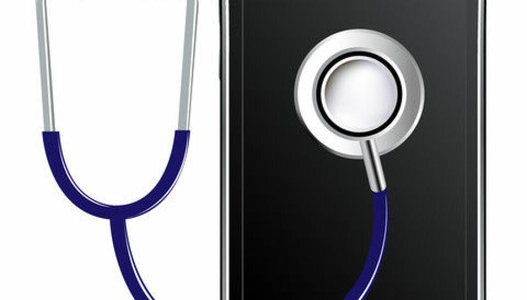 Nordmenn vil bruke hverdagsteknologi i helseøyemed, viser ny undersøkelse. (Illustrasjon: www.colourbox.no)
