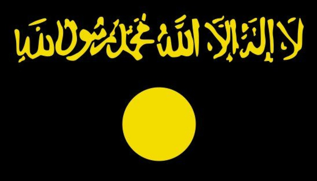 al-Qaedas irakiske flagg. (Illustrasjon: al-Qaeda)