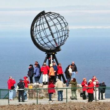 Turister på Nordkapp. (Illustrasjonsfoto: www.colourbox.no)