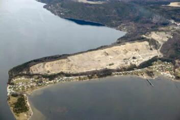 Svelvik Sand er eit nasjonalt viktig sand- og grusuttak i Hurum kommune i Buskerud. (Foto: Svelvik Sand)