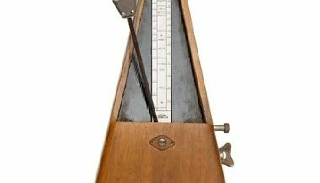 En metronom kalles også ofte taktmåler eller tempomåler, og brukes til å angi tempo som et musikkstykke skal spilles i. Colourbox