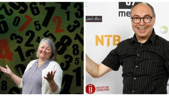 Yngve Vogt og Hanne Utigard deler sine mattetips i podcasten Matematikk for alle.