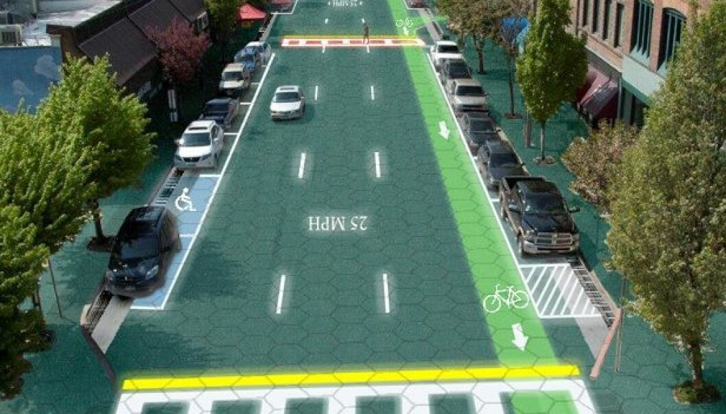 (Grafikk: Sam Cornett/Solar Roadways)