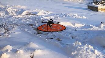 Forskere utvikler droner som kan varsle skred