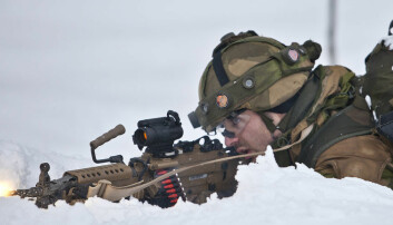 Gardekompaniet i aksjon under en øvelse ved Rena leir Peder Torp Matisen/FMS
