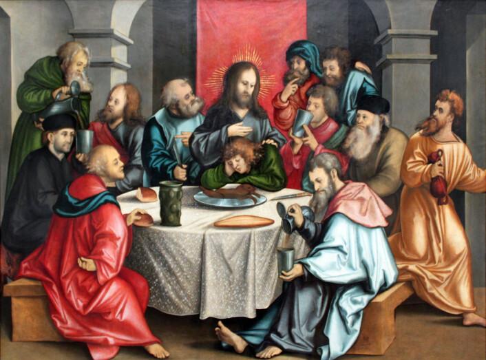 En 1 200 år gammel koptisk tekst forteller at Jesus spiste sammen med Pontius Pilatus kvelden før korsfestelsen. (Foto: (Illustrasjon: Wikimedia Commons))
