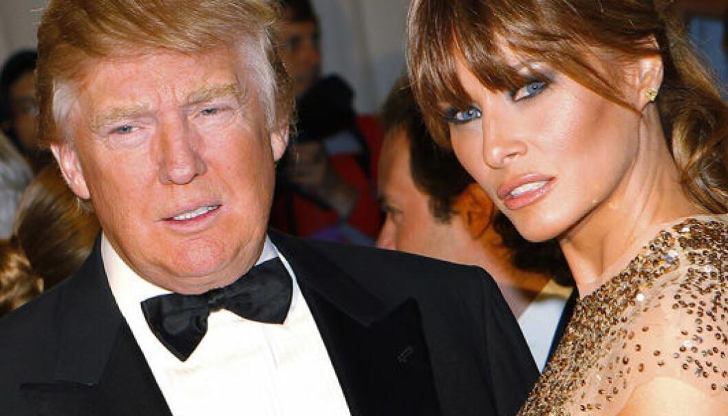 Den perfekte klisjeen: Rike, gamle Donald Trump med sin verdensberømte hentesveis og modellkona Melania. Her på den røde løperen i 2011. Reuters