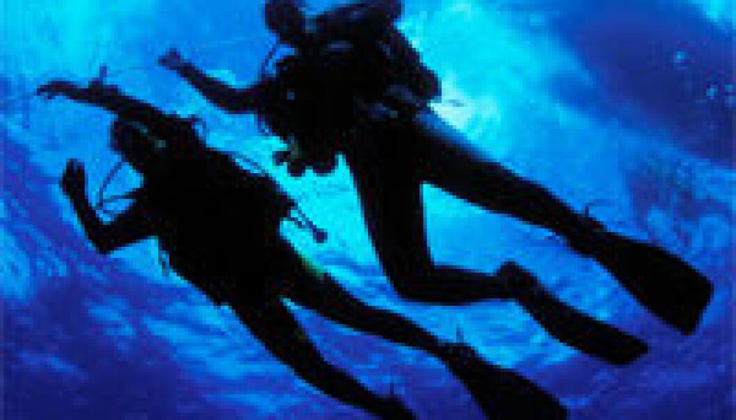 Balanserte dykkere