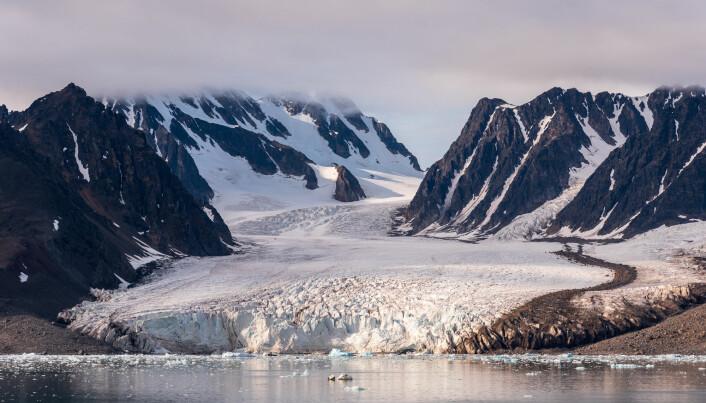 Det er stor variasjon i måten isbreer reagerer på klimaendringer. Noen blir mer passive. Andre begynner å røre kraftig på seg og kan slippe ut store mengder is. Her Monaco-isbren på Svalbard.