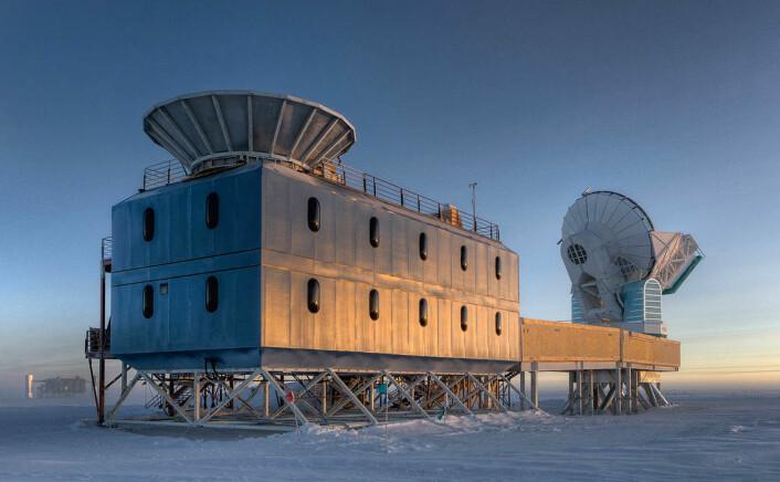 BICEP-2, instrumentet som oppdaget gravitasjonsbølger på Scott-Amundsen-sydpolstasjonen i Antarktis. (Foto: National Science Foundation - Steffen Richter, Harvard University)