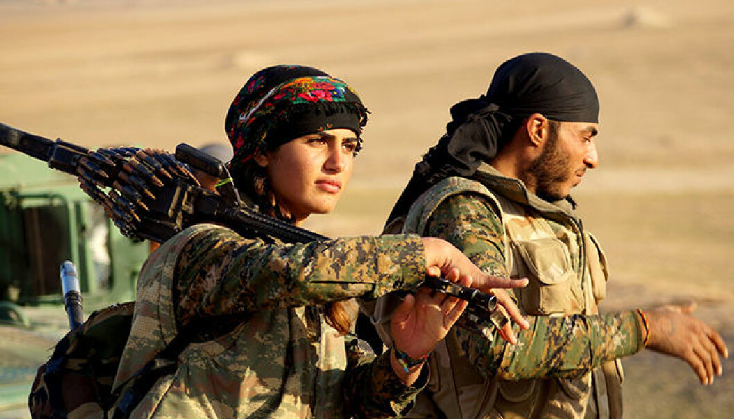 Women have been integrated as soldiers into the YPG – the People's Protection Units, fighting against IS in Syria.
