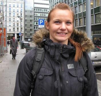 Tonje Fjogstad Langnes (NIH) tilbrakte ett år i Oslos breake-miljø og lærte selv å breake. (Foto: Ulla Gjeset Schjølberg)