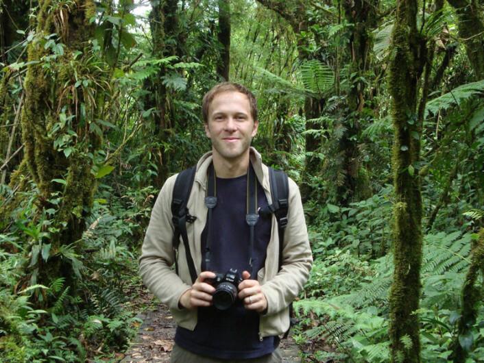 Ralph Simon fra tyske University of Ulm under feltarbeid. (Foto: Ralph Simon)