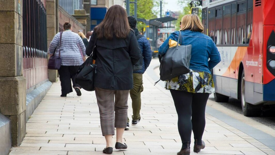 Even just getting off the bus one stop earlier will help to compensate for the dangers of being overweight.