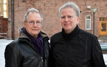 HiOA-professorene Steinar Stjernø og Einar Øverbye er aktuelle med Norges første bok om arbeidslinja i sosialpolitikken. (Foto: Sonja Balci/HiOA)