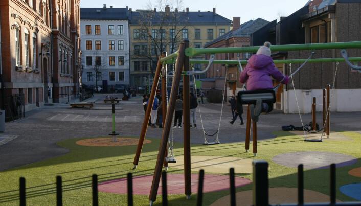 Tøyen er en av bydelen i Oslo som har fått et områdeløft. Området har blitt mer mer populært, også for majoritetsnorske middelklasseforeldre. Men når barna nærmer seg skolealder, flytter mange ut.
