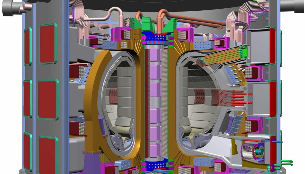 """""""Modell av ITER. Figur: ITER"""""""