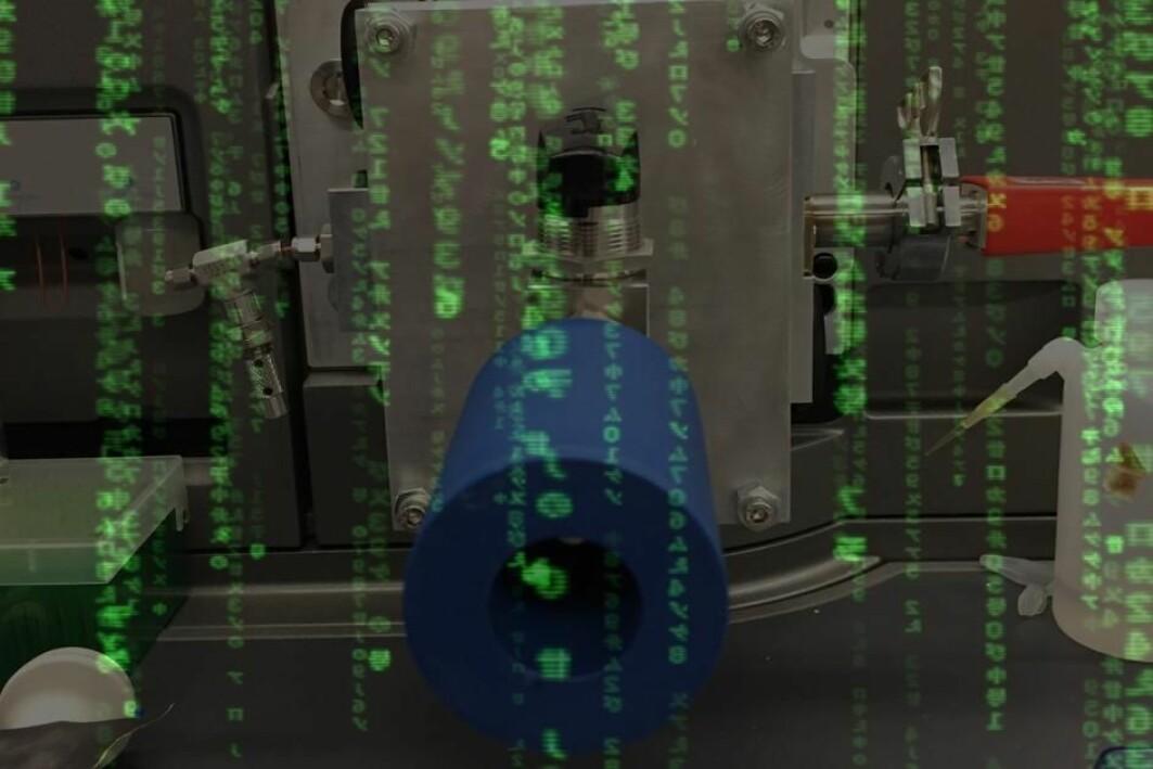 For å finna effekten av matriksen i analyseinstrumentet, måtte programvaren lurast.