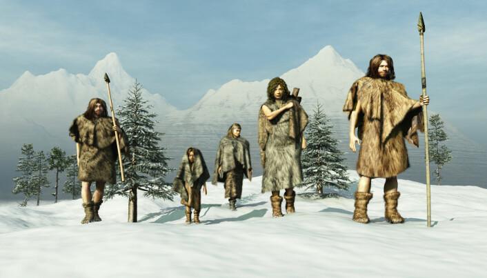 Mennesker levde av jakt, fiske og det de kunne høste i naturen under istiden.