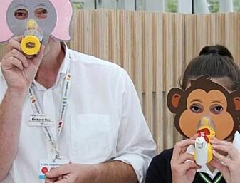 13-åringer fant opp disse maskene for å hjelpe småbarn med astma