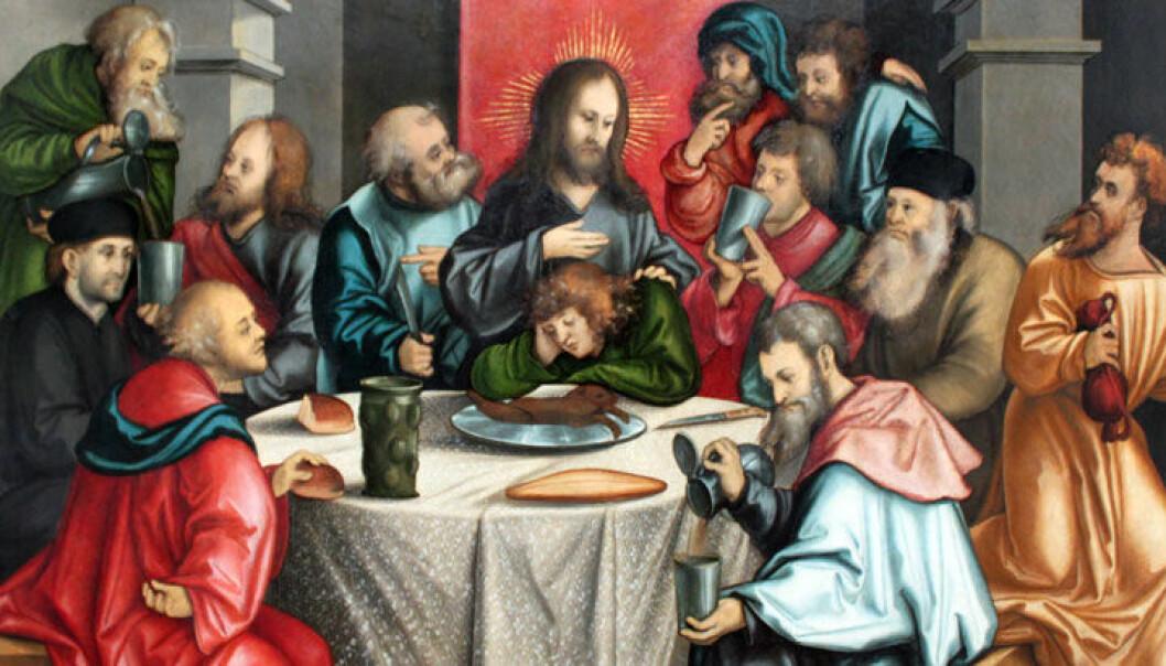 En 1 200 år gammel koptisk tekst forteller at Jesus spiste sammen med Pontius Pilatus kvelden før korsfestelsen. (Illustrasjon: Wikimedia Commons)