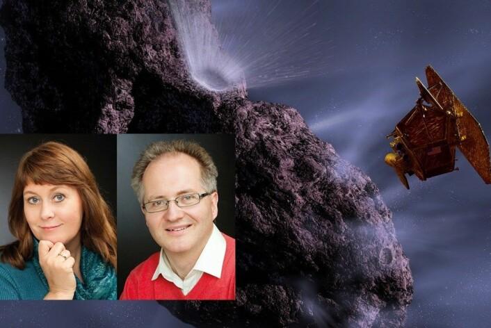 Anne Mette Sannes og Knut Jørgen Røed Ødegaard reiser Norge rundt med showet sitt hvor de blant annet viser frem den berømte Grefsenmeteoritten, men de vil ikke la romforskningsmiljøet undersøke den. (Foto: NASA/ Studio Vest)