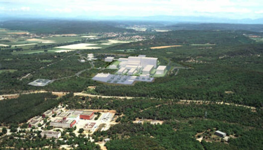 """""""Her skal ITER bygges. Cadarache i Syd-Frankrike. Foto: ITER"""""""