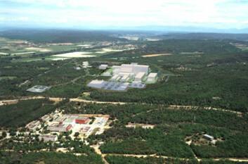 """""""Illustrasjon av hvordan det ferdige ITER-anlegget vil se ut. Bilde: ITER"""""""
