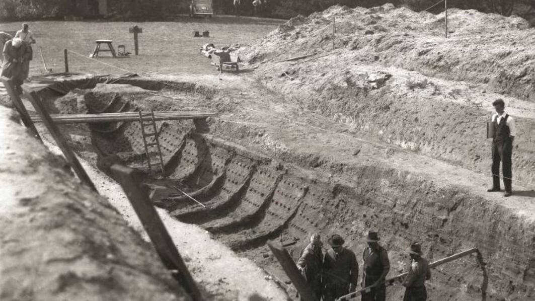 Fra den virkelige utgravingen i Sutton Hoo.