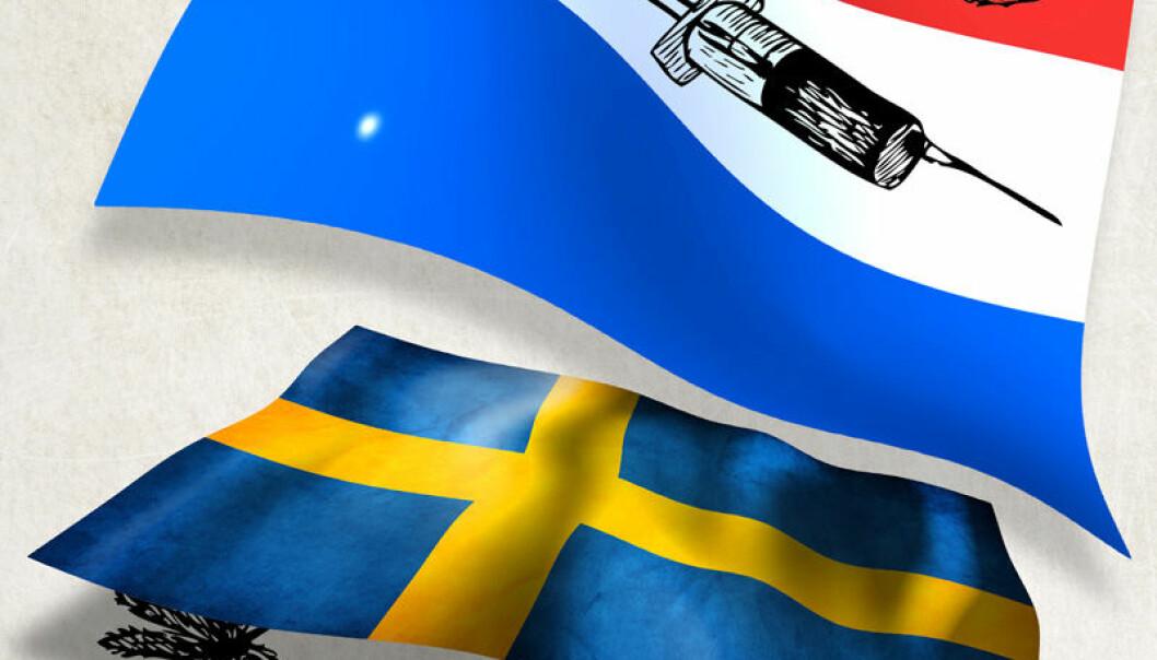 Nederland og Sverige har angrepet prostitusjon og illegal narkotika på ulikt vis. (Illustrasjon: Per Byhring)