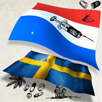 Nederland og Sverige har angrepet prostitusjon og illegal narkotika på ulikt vis. (Foto: (Illustrasjon: Per Byhring))