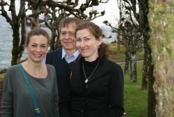Grzegorz Skommer, flankert av Marta Janik (t.h.) og Oliwia Szymanska.