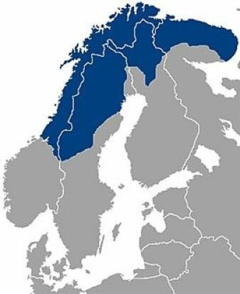 Sápmi strekker seg over store deler av Norge, Sverige, Finland og Russland.