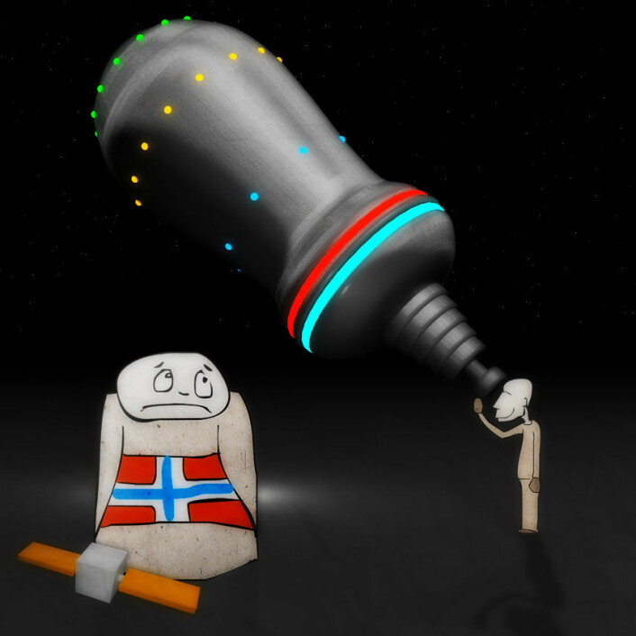 Norge satser lite på astronomi, sammenlignet med våre naboland. (Foto: (Illustrasjon: Per Byhring))