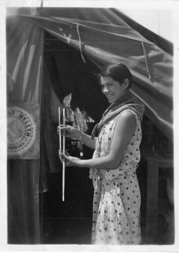 Bertha Pallan har blitt betegnet som den første kvinnelige arkeolog av indiansk avstamning. (Foto: Smithsonian Institution Archives)