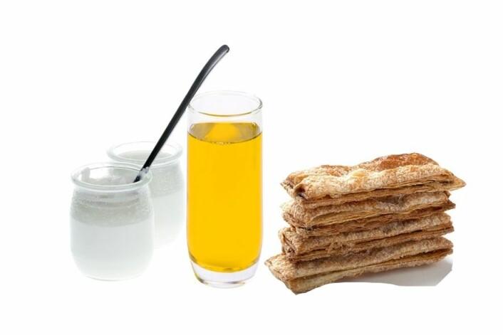 Hva er best konsistens? Pudding, juice eller kjeks? (Foto: Colourbox)