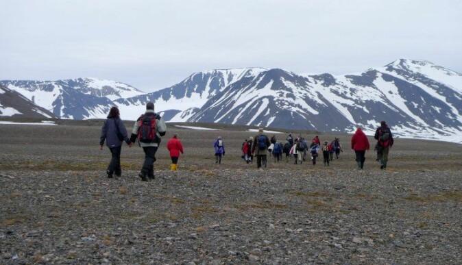 Området rundt Mushavna på Svalbard er populært blant besøkende turister.