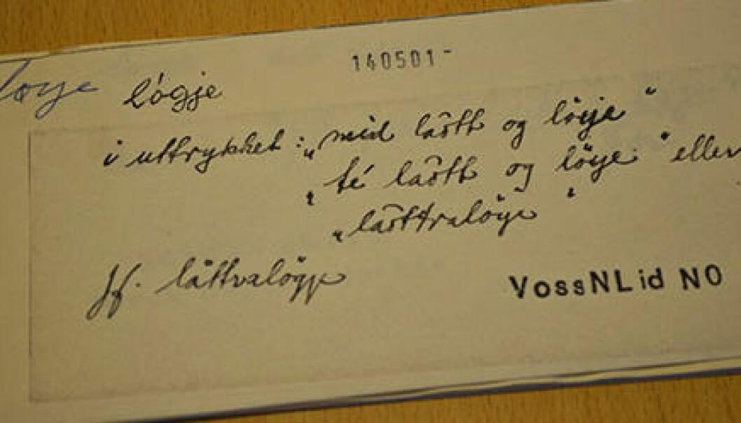 Samlet norske ord i 80 år