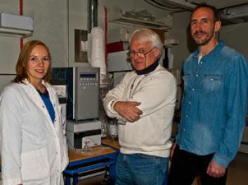 Kine S. Dervola, Ivar Walaas og Espen B. Johansen har gjort nyvinnende forskning på effekten av omega-3-tilskudd på rotter med ADHD. (Foto: Carina Knudsen, UiO)