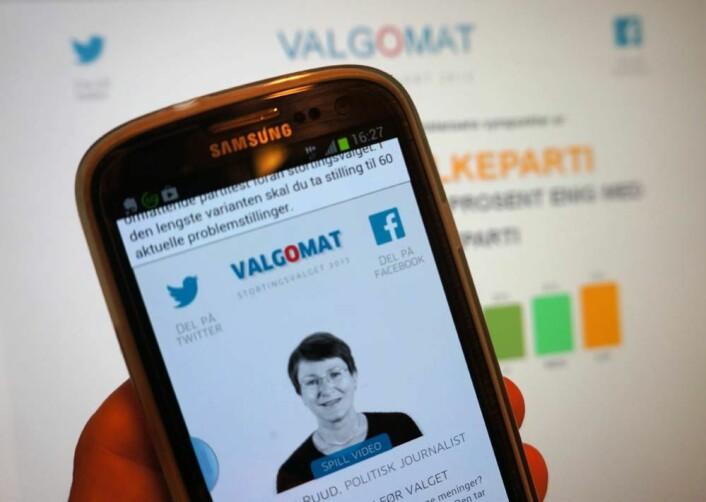 Aftenpostens valgomat. (Foto: Arnfinn Christensen, forskning.no.)