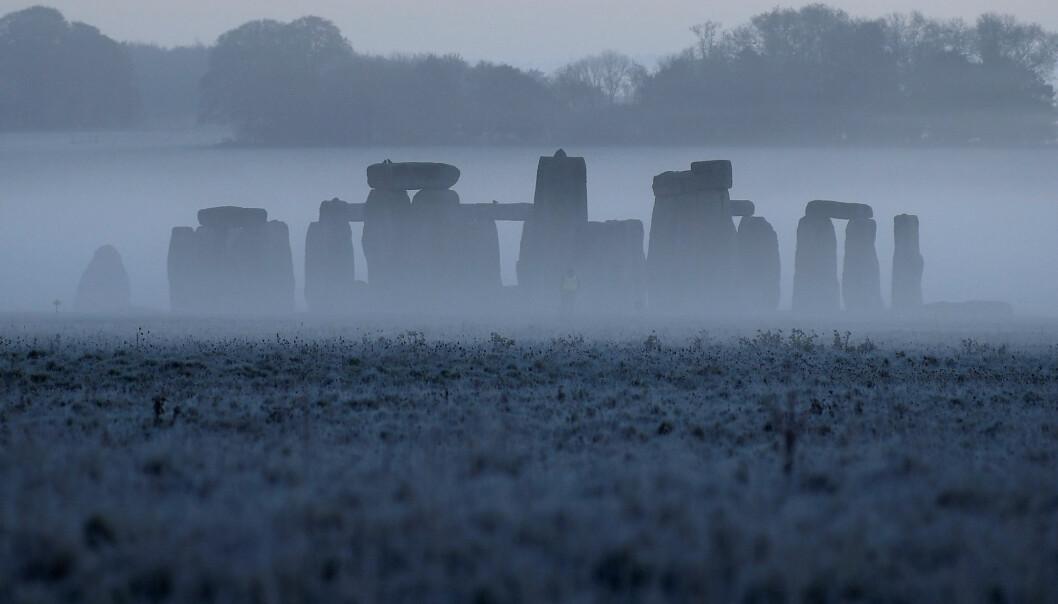 Stonehenge, slik det så ut en kald novembermorgen i 2020.