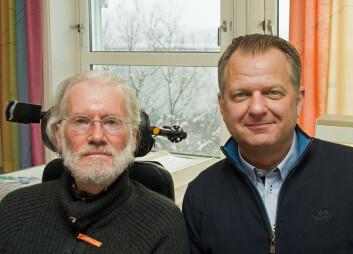 Arild Hervik (til venstre) og Bjørn G. Bergem har funnet uventet store, positive effekter av Ormen Lange. (Foto: Georg Mathisen)