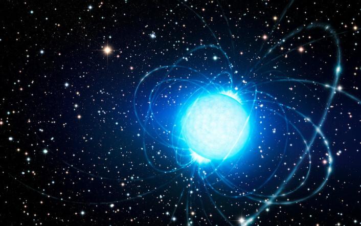 Magnetar slik en kunstner ser det for seg. (Foto: (Bilde: ESO/L. Calçada))