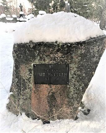 «Geolog Brit Hofseth 24 aar» står skrevet på gravsteinen på Tromsø gravlund.
