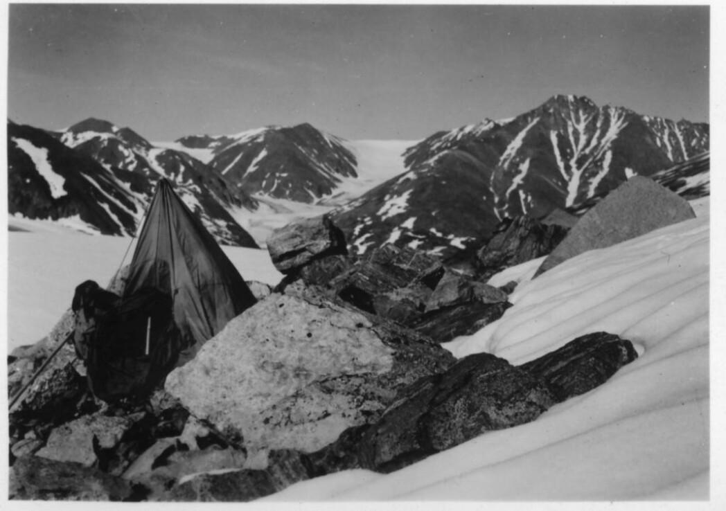 Brit Hofseth gikk i land på Claveringøya for å utrette geologisk feltarbeid. Et par uker levde hun alene der med geologhammeren, proviant, telt og våpen.