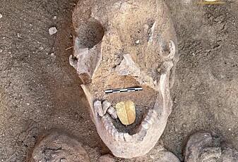 Denne mumien ble funnet med tunge av gull